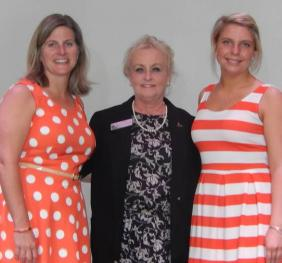 Teacher Kari Wendell, Dr. Coralee Smith, and Emily Honsberger