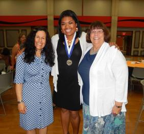 Dr. Pixita delPrado Hill, Brianna Ware and Mrs. Leslie Day