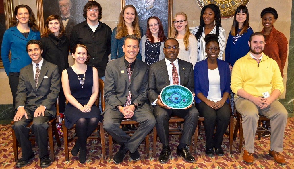 Students visit with the Mayor of Buffalo