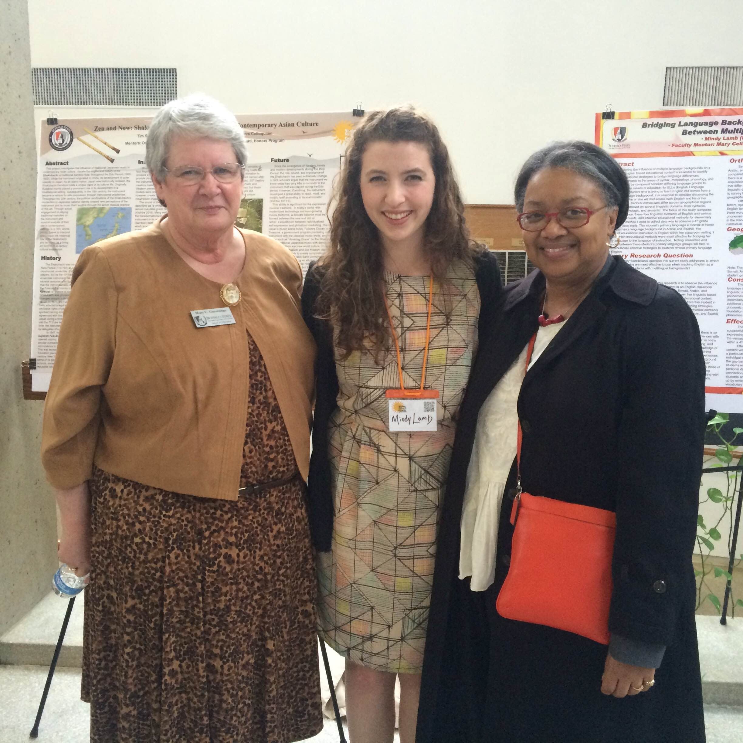 Mary C. Cummings, Mindy Lamb, and Dr. Conway-Turner